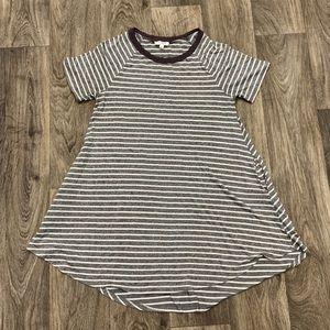 Boutique Grey & White Striped Tunic